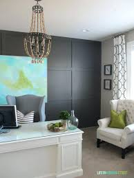 painting an accent wall in office and a promise that the accent