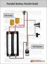 parallel battery mosfet wiring diagram box mod schematy diy