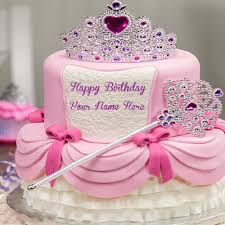 write princess name on birthday wishes cakes pictures