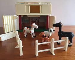 Fisher Price Little People Barn Set Fisher Price Vintage Farm Set Etsy