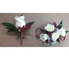 corsage and boutonniere set and white corsage and boutonniere set in smyrna ga floral