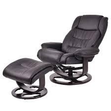 Recliner Ottoman Giantex Pu Leather Executive Leisure Recliner Chair Swivel