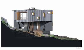 lake house plans on a slope