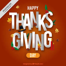 background of happy thanksgiving message vector free