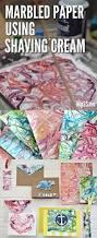 how to marble paper using shaving cream fun craft idea crafts