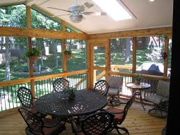 covered porch pictures screened porch interior designs in kansas city archadeck of