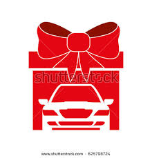 big bow for car present car gift icon stock vector 510800359