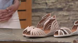 gentle souls leather or suede peep toe wedge sandals leah on qvc