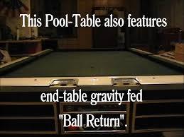 brunswick slate pool table classic restored single slate 4x8 brunswick pool table youtube