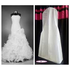 wedding dress garment bag large white breathable wedding gown bag dress