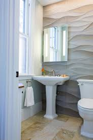 Powder Room Floor Tile Ideas Photos Hgtv Neutral Transitional Powder Room With Wavy Stone