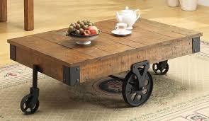 Rustic Coffee Table On Wheels Rustic Coffee Table With Wheels Furniture Guru Designs