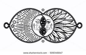intricate ornate crescent moon stock vector 509346847