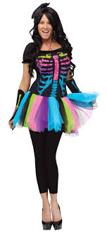 skeleton costume womens women s funky bones skeleton costume candy apple