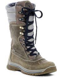 womens grey boots canada lyst shop s santana canada boots from 78