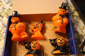rosbro halloween plastic candy holders 2 snowmen 2 cats 1 witch