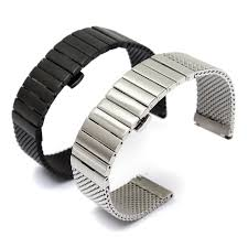 butterfly clasp bracelet images Buy 18mm 20mm 24mm stainless steel watch band jpg