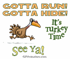 turkey running away thanksgiving animation gif animations