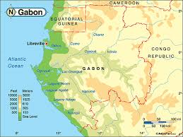 gabon in world map gabon physical map by maps from maps world s largest