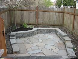 Stone Patio Design Floor Area Flagstone Patio With Wood Fence And Wood Door Plus