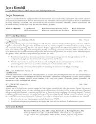 personal injury legal secretary resume sample free cover letter