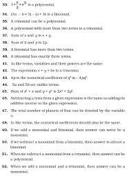 class 7 important questions for maths u2013 algebraic expressions
