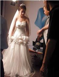 wedding dress song choi song hyun in a wedding dress hancinema the korean