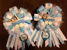 baby shower ribbons prince baby shower corsage to be corsage blue baby shower