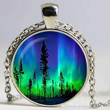 wholesale northern lights pendant northern lights trees necklace