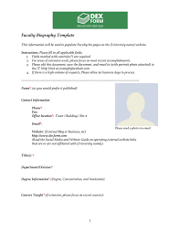 biography template download free documents for pdf word and excel
