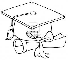 graduation cap coloring page graduation cap coloring page