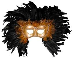 mask with feathers forum elaborate feather venetian mask gold black one