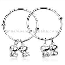 Childrens Bracelets Baby And Children U0027s Bracelets 990 Silver Snoopy Charm Bangle Buy