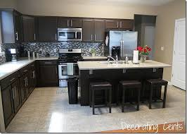 Kitchen With Brown Cabinets Painted Kitchen Cabinets Dark Brown U2013 Quicua Com