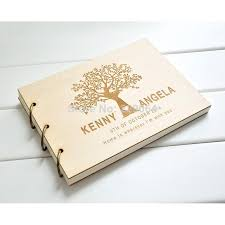 wedding guest book photo album personalized wedding guest book family tree design rustic