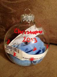 diy stuff a clear glass christmas bulb with your baby u0027s and