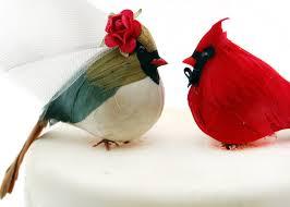 bird wedding cake toppers country cardinal wedding cake topper groom bird