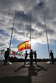 Spain Flag 2014 Sochi Olympic Games Officially Under Way