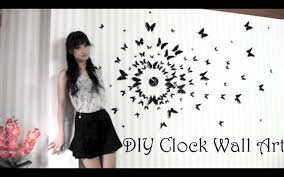 Butterfly 3d Wall Art by Diy Clock Wall Art 3d Youtube