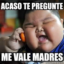 Memes De Me Vale - meme fat chinese kid acaso te pregunte me vale madres 5429873