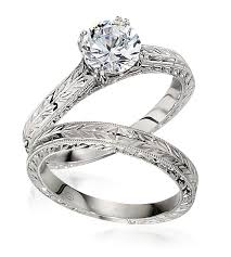 engraved engagement rings images Gottlieb sons hand engraved engagement ring set worthington jpg