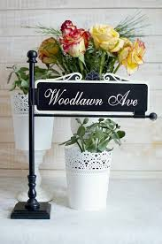 Wedding Table Signs 14 Best Street Sign Table Number Holders Images On Pinterest