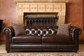 Real Chesterfield Sofa by Darby Home Co Lizzie Leather Chesterfield Sofa U0026 Reviews Wayfair