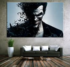 online get cheap canvas movie posters aliexpress com alibaba group wall art canvas movie poster batman joker poster print on canvas home decor wall pictures for living room unframed