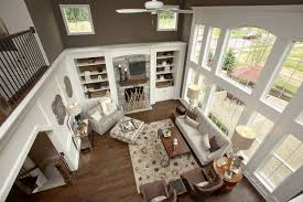 LOVE Window Setup Above  Story Fireplacebuilt In Bookcases And - Two story family room
