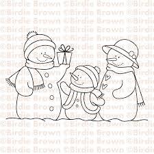 digital stamp snowmen family 2 50 etsy digi images