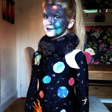 space solar system costume and makeup by me halloween