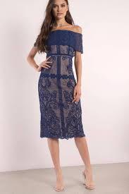 midi dress royal blue dress ots dress embroidered dress midi dress