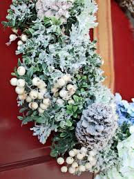 turn a dated floral wreath into a snowy winter wreath hgtv u0027s