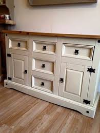 beautiful painted shabby chic pine corner unit storage shelves